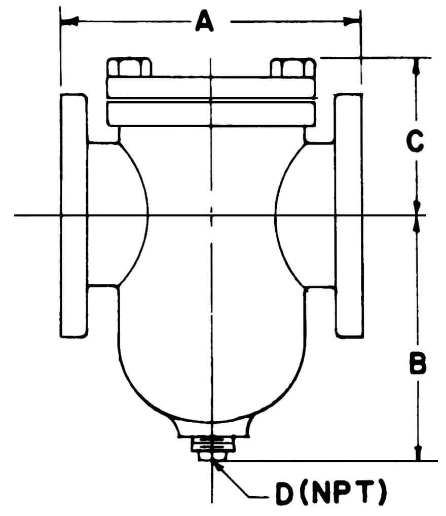 stainless Steel simplex strainer, basket simplex strainer